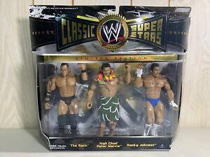 WWE Rock Peter Maivia Rocky Johnson Classic Superstars JAKKS Pacific 3-Pack Y3