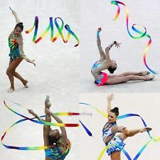 Dance Ribbon Gym Art Gymnastic Rhythmic Ballet Streamer Twirling Metal Rod Stick