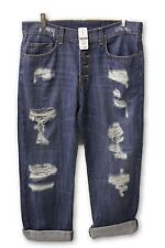 LF Stores Carmar Ripped Blue Jeans with Button Fly 27W NWT