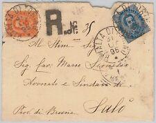 ITALIA REGNO: storia postale -  BUSTA RACCOMANDATA da RIVALTA di TORINO 1895