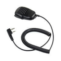 2 Pin Mini PTT Speaker MIC Walkie Talkie Accessories For Baofeng UV5R 888S P0S7