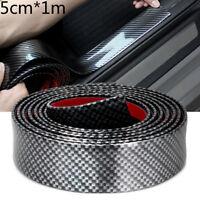 Bumper Strip  Rubber Door Sill Protector Carbon Fiber Edge Guard Car Stickers