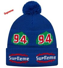 Supreme Leaf Beanie Hat Fw17 100 Authentic Royal Blue 7114c911b935
