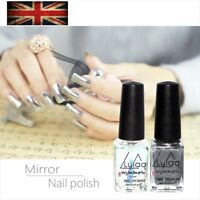 Chrome Nail Polish Set Magic Mirror Silver Effect Laquer New 2018 Varnish Shiny