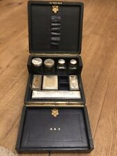 Antique Silver Plated Glass Vanity Set
