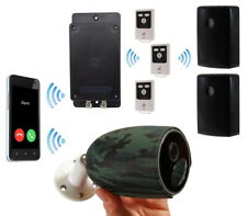 Battery 3G GSM Alarm - 2 x Outdoor PIR's with Sirens & 1 x Battery 4G Camera