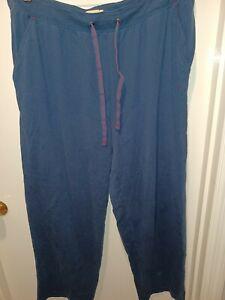 TOMMY BAHAMA Men XL Marlin/Swordfish Blue PJ Lounge Pant Sleepwear Cotton Pocket