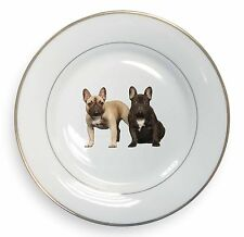 French Bulldog Gold Rim Plate in Gift Box Christmas Present, AD-FBD1PL