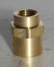 "3/8"" FNPT X 1/4"" FNPT Threaded  Brass Coupling Reducer Parker"