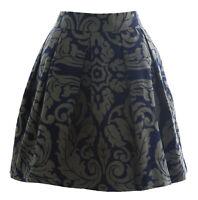 BODEN Women's Navy/Taupe Sophia Skirt WG566 US Sz 10S $75 NWOT