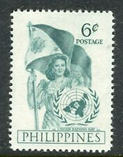 PHILIPPINES;  1951 early UN Day issue Mint MNH Unmounted 6c.