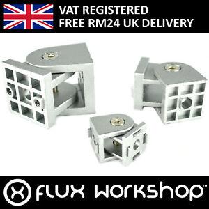 Cast Aluminium Hinge 2020 3030 4040 Extrusion Frame Slot CNC 3D Flux Workshop
