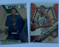 GIANNIS ANTETOKOUNMPO LOT Of 4 2019-20 Panini Prizm Mosaic MVP & Will To Win
