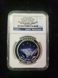 2015 $25 Canada Silver Eternal Pursuit Colorized~Early Release PF70 Ultra Cameo