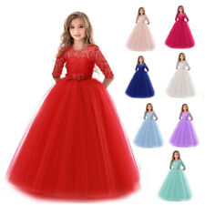 e255eeda4 Flower Girl Dress Princess Party Wedding Bridesmaid Kid Formal Gown Long  Dresses