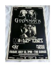 Deftones Godsmack Puddle Of Mudd 2001 Seattle Concert Poster 11x17