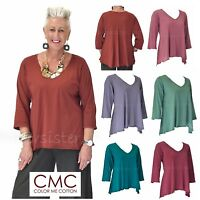 CMC by COLOR ME COTTON USA  3269  Supima Jersey  GODET BACK TEE  Top 2017 FALL