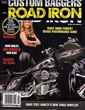 ROAD IRON CUSTOM BAGGERS MAGAZINE FEBRUARY 2015 MOTORCYCLES - NEW - FREE SHIP!
