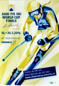 Original vintage poster SKI ALPINE FIS W.C.ST.MORITZ 2016