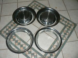 1989-1993 DODGE RAM 250 1ST GEN CUMMINS 2WD 2 HUB CAPS DISHES AND 4 RING SET