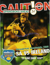 SOUTH AFRICA v IRELAND 12th June 2004 1st Test RUGBY PROGRAMME