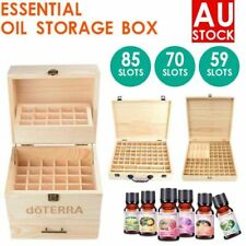 LONENESSL Essential Oil Storage Box Wooden 12-85 Slots Aromatherapy Organizer