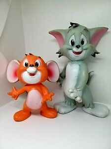 Vintage Tom and Jerry Rubbery Toys Italy MGM. Rare!!!