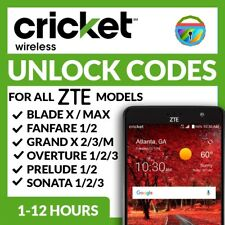 ZTE OVERTURE 3 Z851M UNLOCK CODE CRICKET WIRELESS (AT&T) BESTBUY WALMART AMAZON
