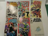 Lot of 17 Mid 1980s Comics MARVEL ALPHA FLIGHT Readers Lot
