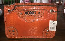 XOXO CHAMP Purse New With Tags ORANGE Faux Snakeskin XH50819