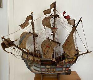 "Nachbau Modell Segelschiff ""Santa Maria"" von Christoph Kolumbus 1492-93, 75 cm L"