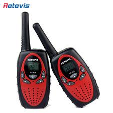 2x Red Mini Retevis RT628 Radio for girls UHF 22CH LCD Display& Flashlight Radio