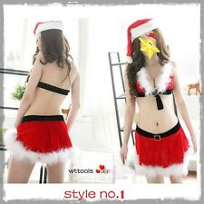 Sexy Miss Santa Christmas Costume Outfit Fancy Dress Lingerie size 8 10 12 14 UK