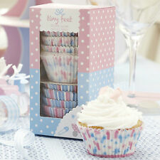 100 CUPCAKE MUFFIN CASES Babies Baby Shower TINY FEET Christening Naming Day