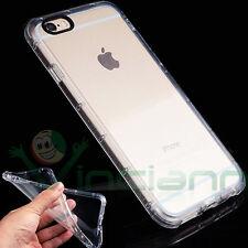 """Pellicola+Custodia CRYSTAL cover TPU per iPhone 6 Plus 6S 5.5"""" case trasparente"""