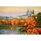 Gobelin Tapestry Textile Picture Panel Prague Prospects Fabric 29 1/8x20 1/2in