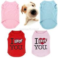 XS S M L XL XXL 3XL Pet Puppy Dog Cat Summer Vest T-Shirt Coat Tops Clothes U19