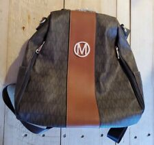 Mkp M Marco womens Signature PU Vegan Leather anti-theft Backpack shoulder bag