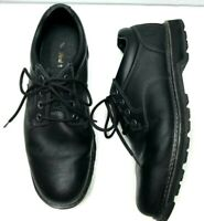 Timberland Size 11 US Men's Leather Lace Up Black Shoes Ortholite Great Cond.