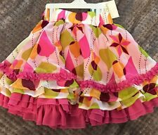 Matilda Jane Girls NWT Paint By Numbers Light Multi Layers Skirt Sz 8 GORGEOUS