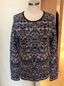 Aldo Martins Sweater Size 14 BNWT Black And Grey Patterned RRP £123 NOW £29