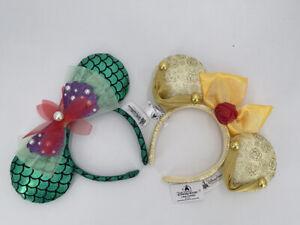 Disney Park Beauty and the Beast Belle Mickey Bow Mermaid Ariel Ear Headband