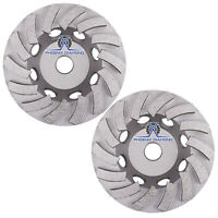 "4.5"" Spiral Turbo Concrete Diamond Grinding Cup Wheel 9 Segs 7//8/""-5//8"" Arbor"