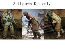 1/35 Resin US Soldiers WWII 3 Figures Kit Unpainted Unassembled FY079
