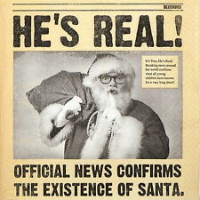 4x Paper Napkins - Santa is Real- for Party, Decoupage Craft