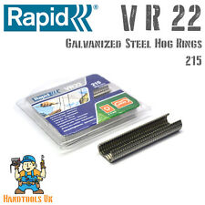 Rapid VR22 Galvanized Fencing Hog Rings - For FP20 / FP222 Fence Pliers 215 Pack