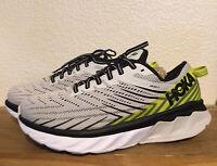 Men's HOKA ONE ONE Arahi 4 Grey Sz 8 Comfort Cushioned Athletic Running Sneakers