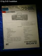 Sony Service Manual CFD 555L Cassette Recorder (#5087)
