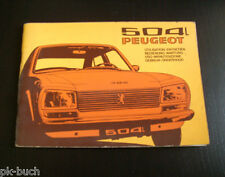 Betriebsanleitung Instructieboekje Manuale Operatore Peugeot 504 L, 03/1973