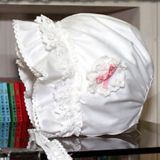 Baby Toddler Beautiful Simple or Luxury Frill Handmade Bonnet Hat